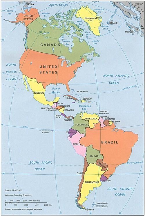 Carte ameriques