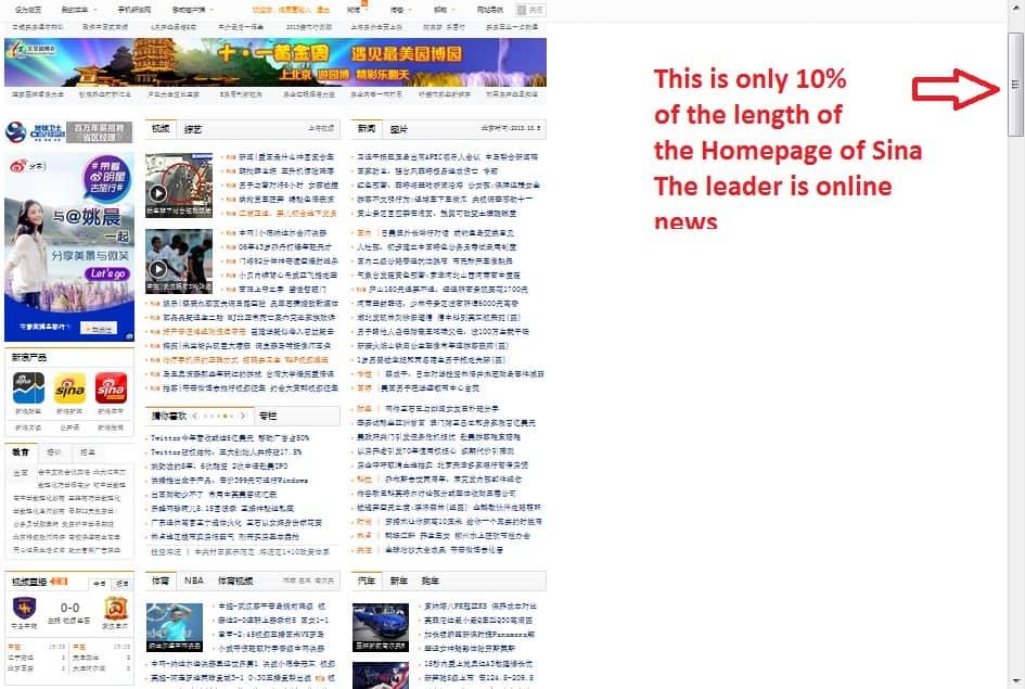 Sina homepage