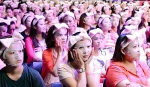 ladies using facial mask