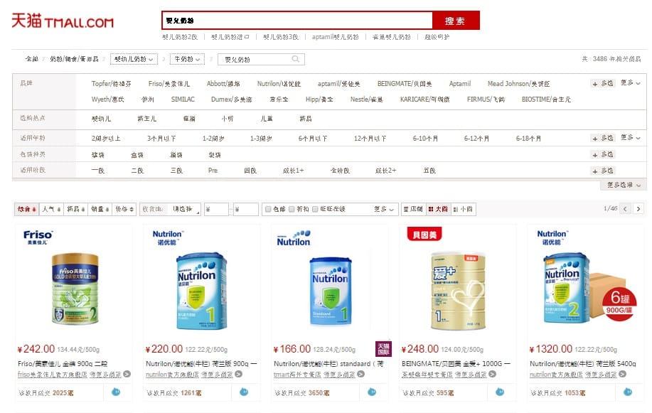 baby tmall - baby care market china