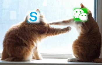Wechat, new competitor of Skype