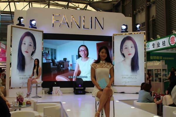 Stand salon du cosmétique