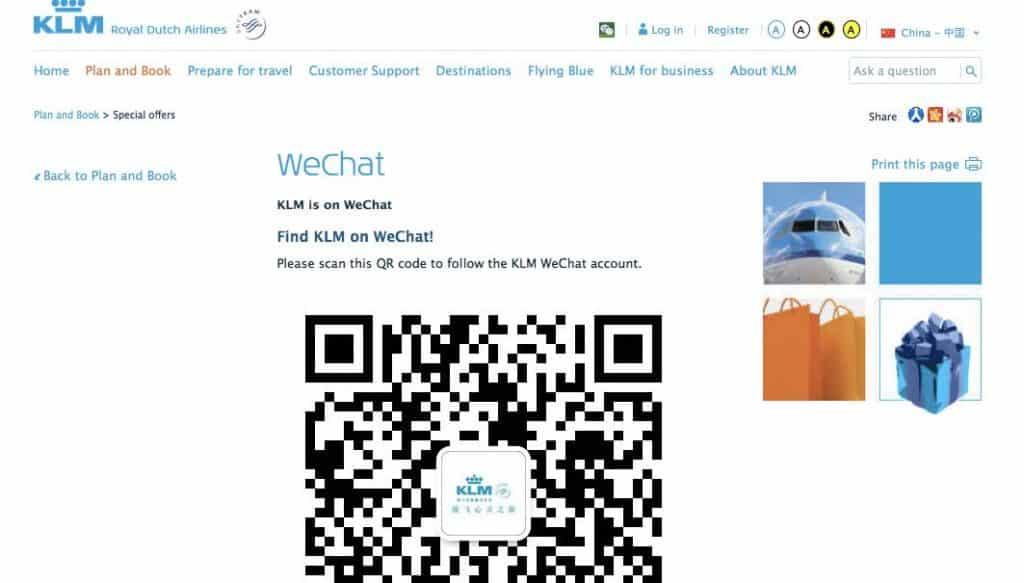 KLM QR Code