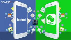 Facebook and WeChat, the main differences.