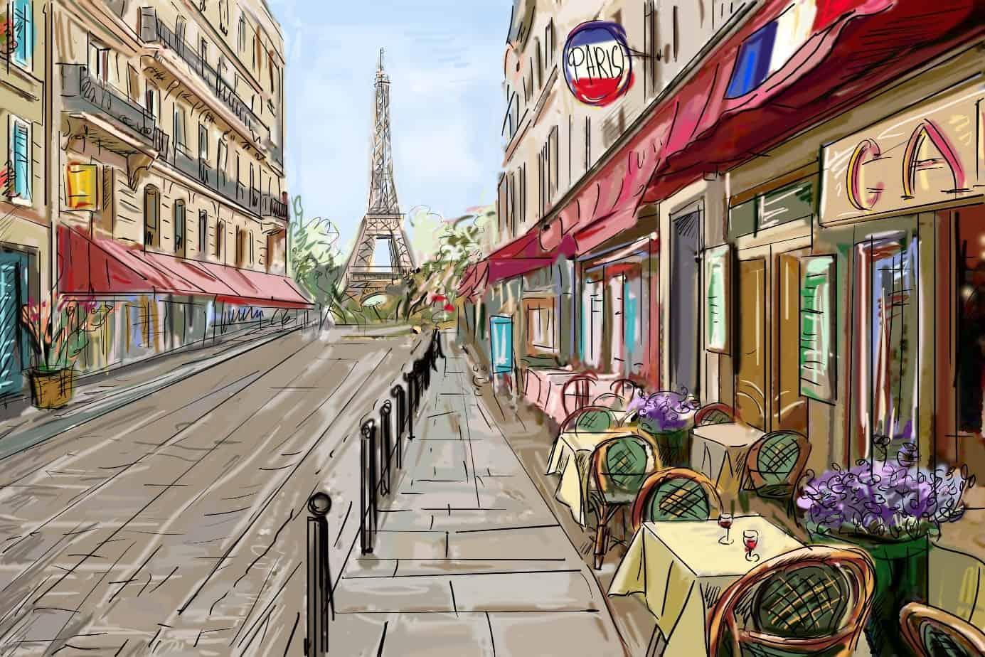 Открытки улицы парижа, открытки поздравленьями днем