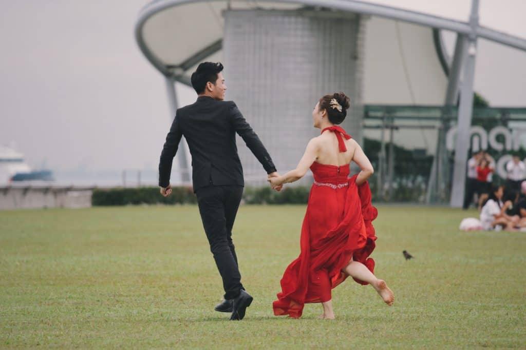 chinese couple wedding