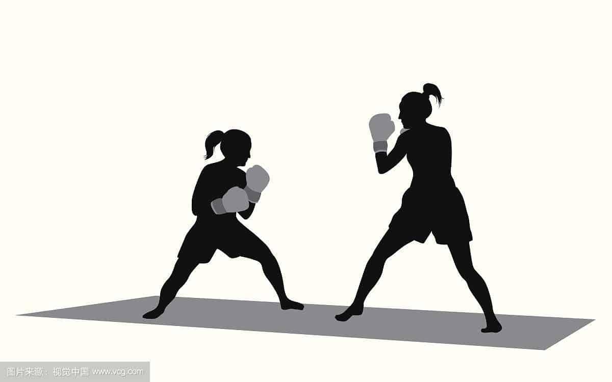 MMA girl boxing