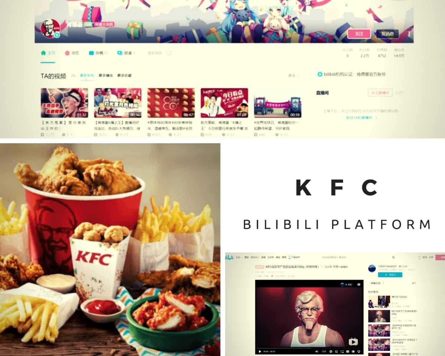 KFC ACCOUNT AND STRATEGY ON BILIBILI