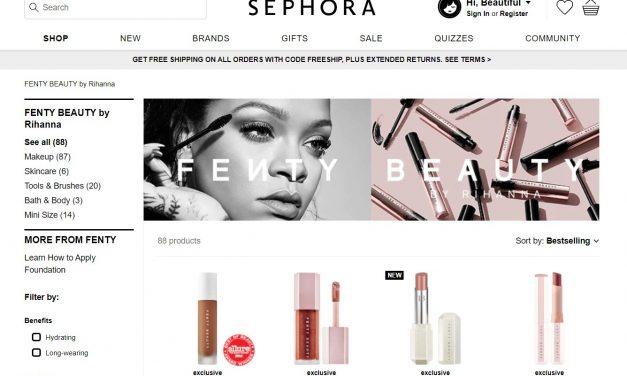 "Rihanna's ""Fenty Beauty"" debut on Sephora Tmall Global Flagship Store"
